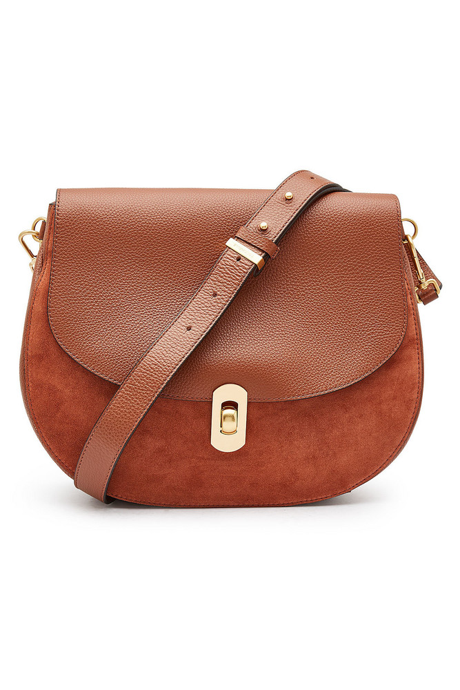 Coccinelle Zaniah Leather Shoulder Bag  in brown