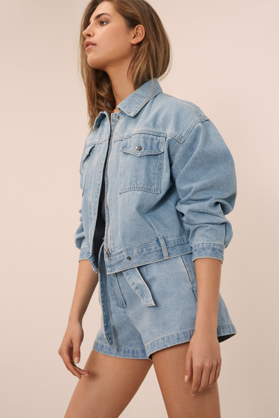THE FIFTH RECURRENCE JACKET washed blue