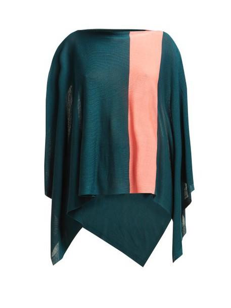 Issey Miyake - Bloom Fine Knit Cape - Womens - Green Multi