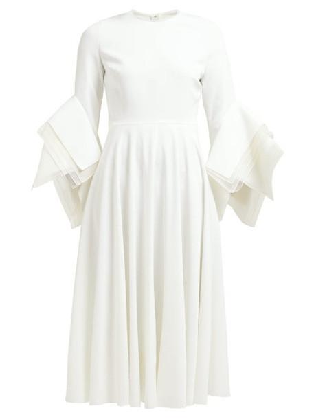 Roksanda - Ayres Folded Sleeve Midi Dress - Womens - Ivory