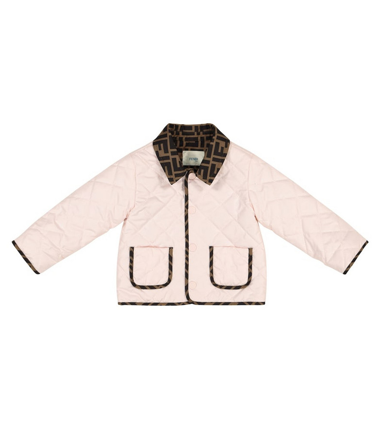 Fendi Kids Baby quilted jacket in pink