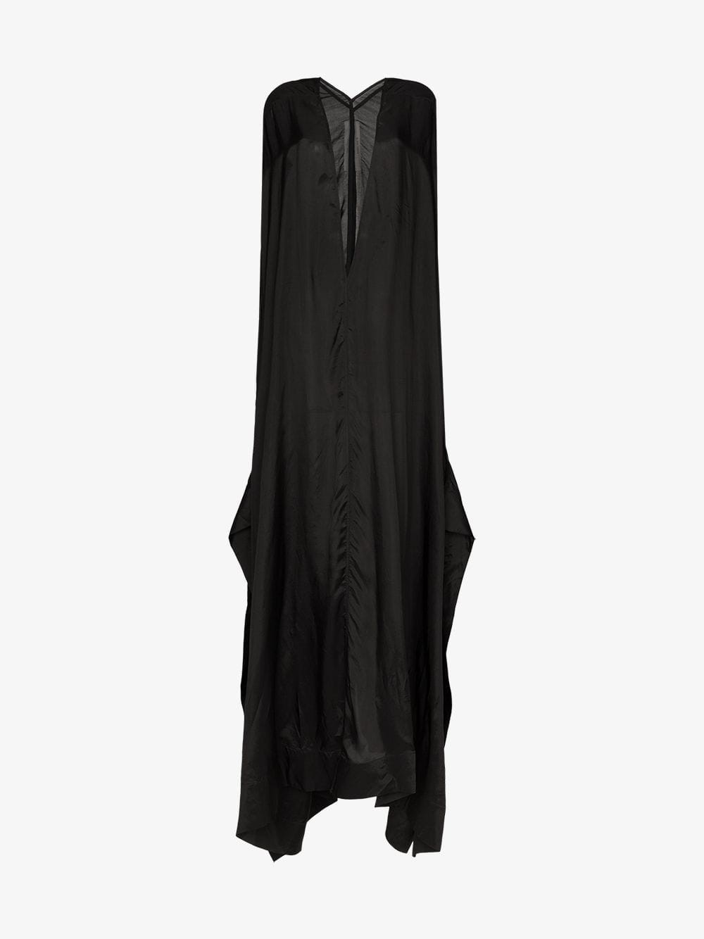 Rick Owens long-sleeved oversized maxi dress in black