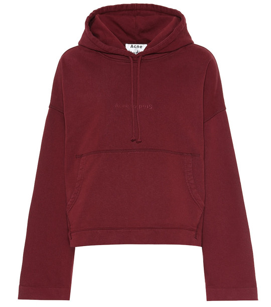 Acne Studios Joghy cotton-jersey hoodie in red