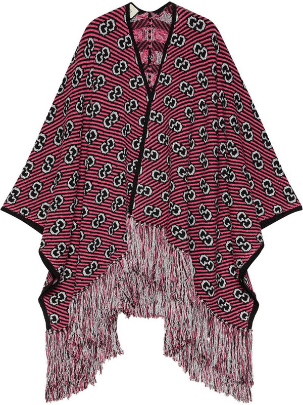 Gucci GG jacquard poncho in pink