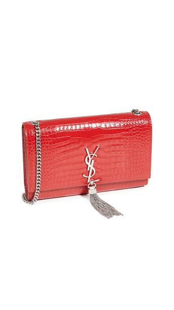What Goes Around Comes Around YSL Red Embossed Kate Medium Bag