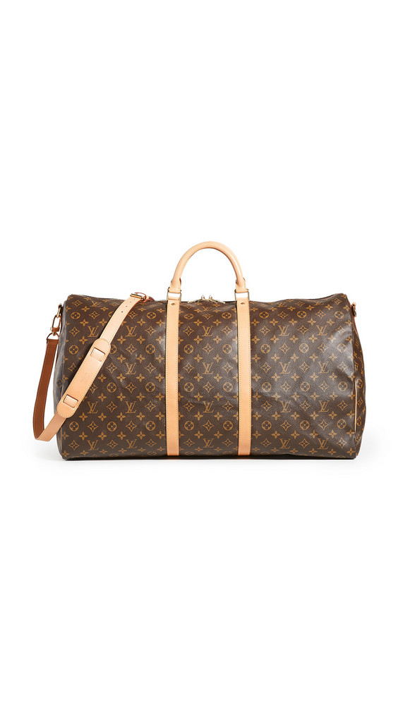 What Goes Around Comes Around LV Mono Keepall Bando 60 Bag in brown