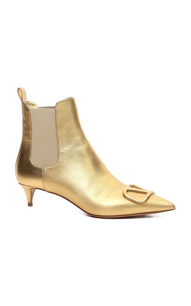 Valentino Valentino Garavani Metallic Leather Boots in gold