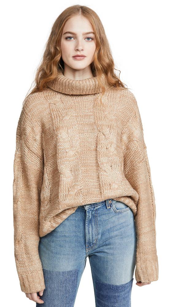 J.O.A. J.O.A. Turtleneck Sweater in tan