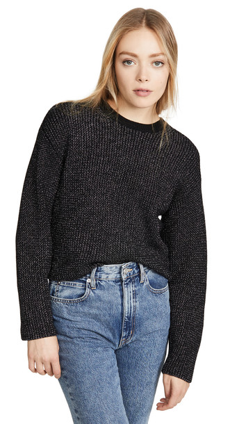 Rag & Bone Jubilee Crew Sweater in black