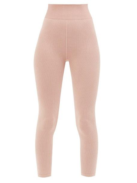 The Upside - Circular-knit Ribbed Leggings - Womens - Pink