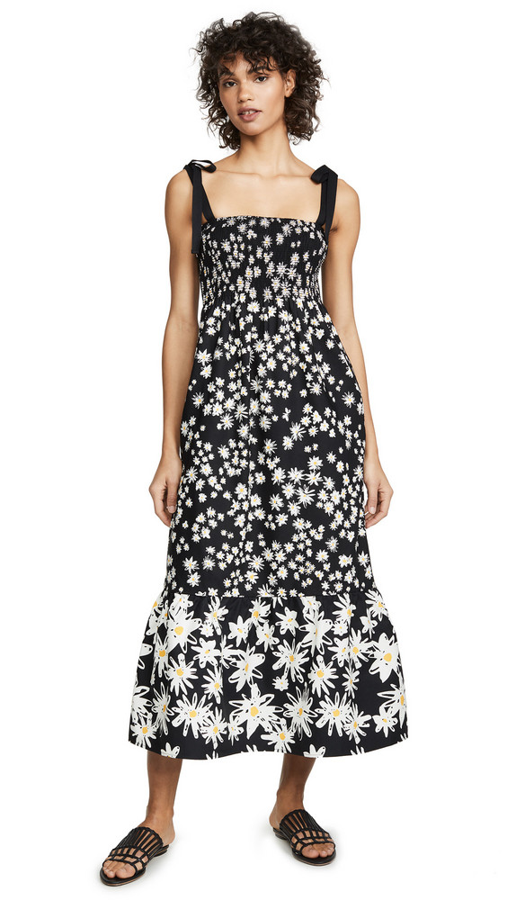 Chinti and Parker Meadow Dress in black