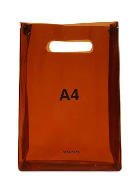NANA NANA A4 Pvc Shopping Bag in brown