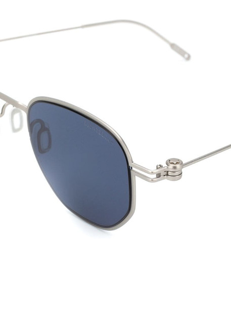 Montblanc MB0081S square-frame sunglasses in silver