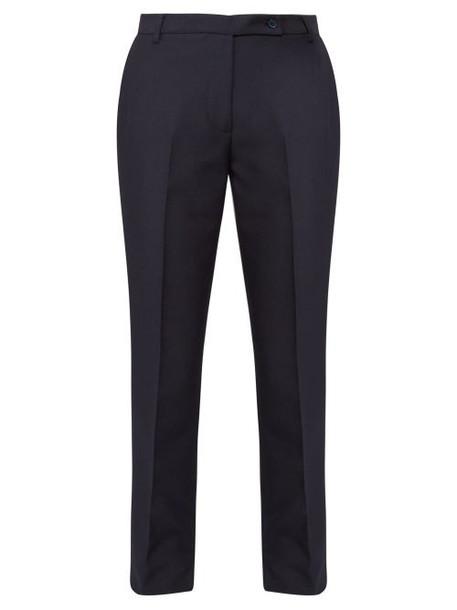 Golden Goose - Venice Slit Cuff Twill Trousers - Womens - Navy
