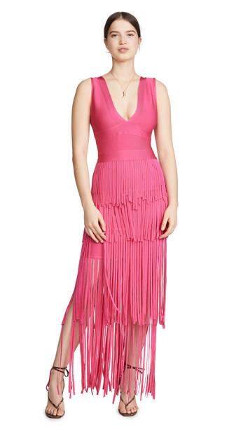 ONE by Elliatt ONE by Dimension Fringe Dress in pink