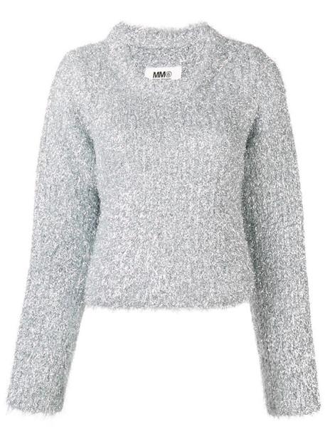 MM6 Maison Margiela 'metal shavings' sweater in metallic