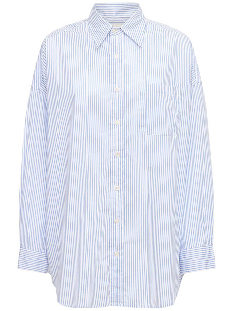 R13 Oversized Cotton Shirt in blue