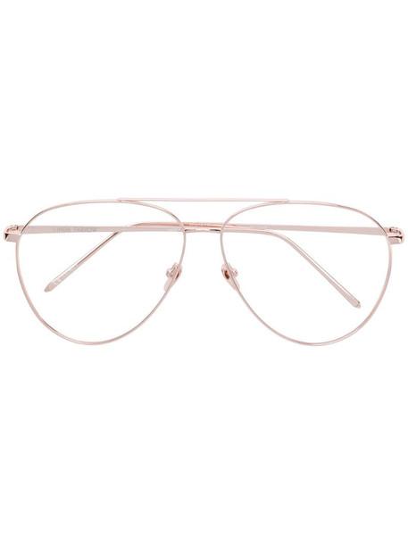 Linda Farrow aviator frame sunglasses in pink