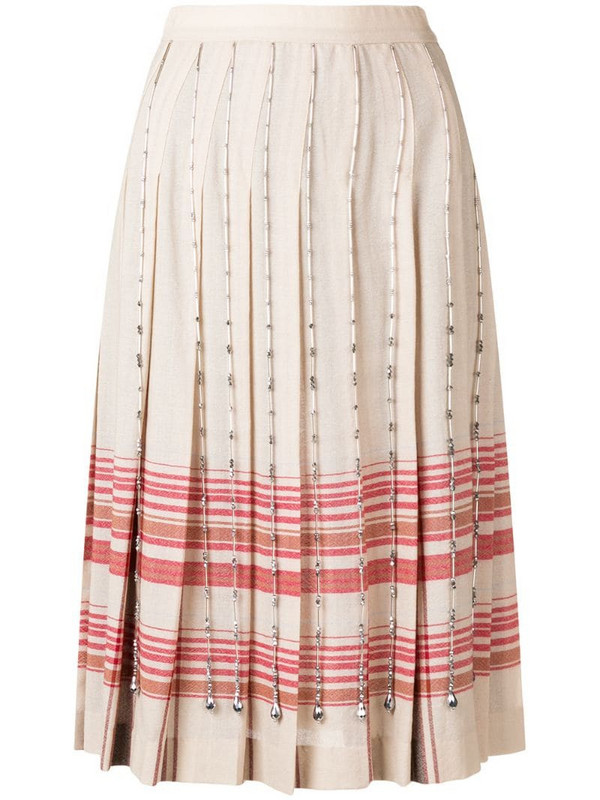 Marco De Vincenzo crystal-embellished skirt in neutrals