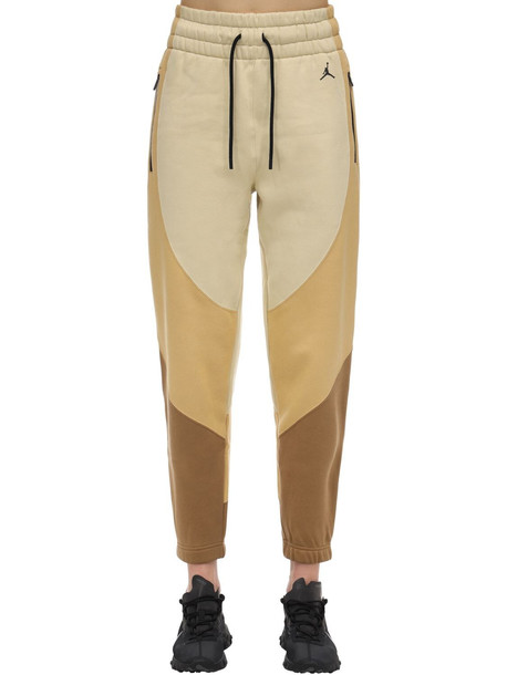 NIKE Jordan Cotton Jersey Sweatpants in gold