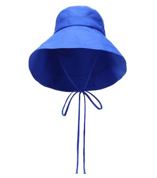 Lola Hats Exclusive to Mytheresa – Georges cotton bucket hat in blue
