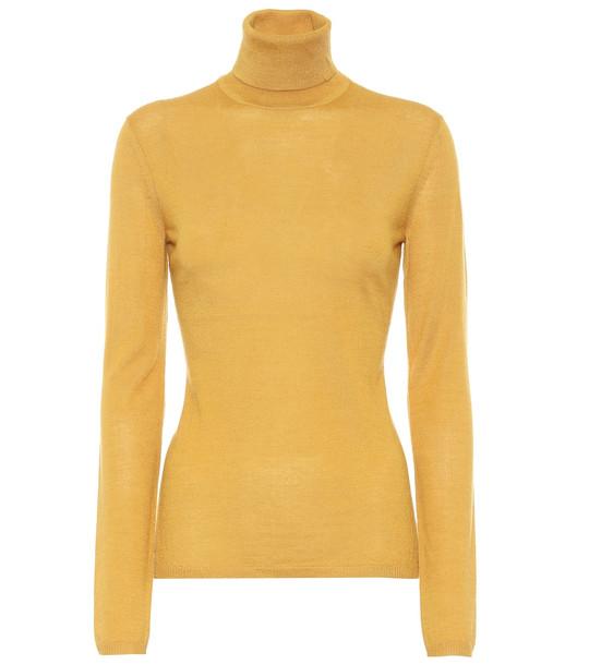 Gabriela Hearst Costa cashmere and silk sweater in yellow