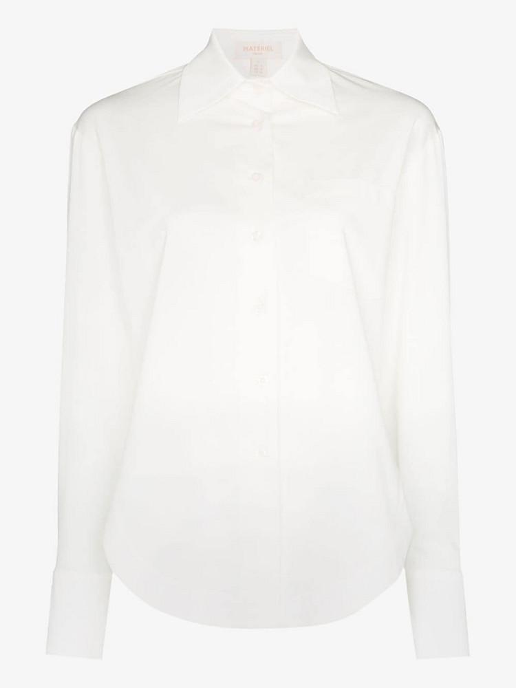 Matériel button-down cotton shirt in white