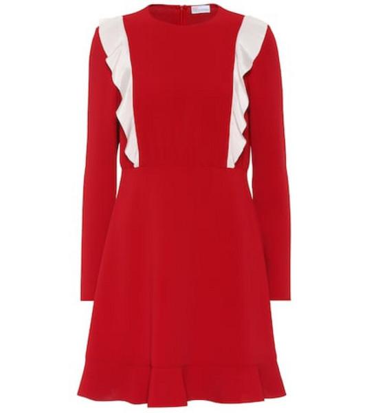 REDValentino Ruffled crêpe dress in red
