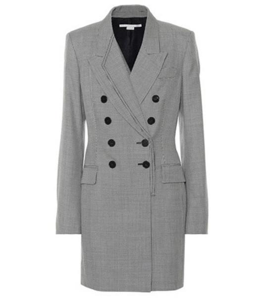 Stella McCartney Houndstooth wool dress in grey