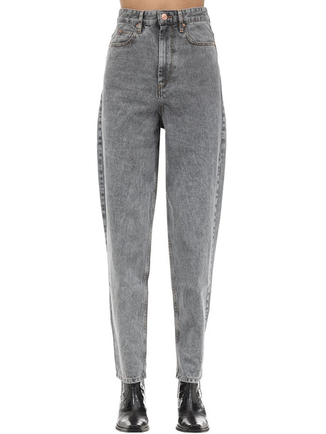 ISABEL MARANT ÉTOILE Corsy J Boyfriend Cotton Denim Jeans in grey
