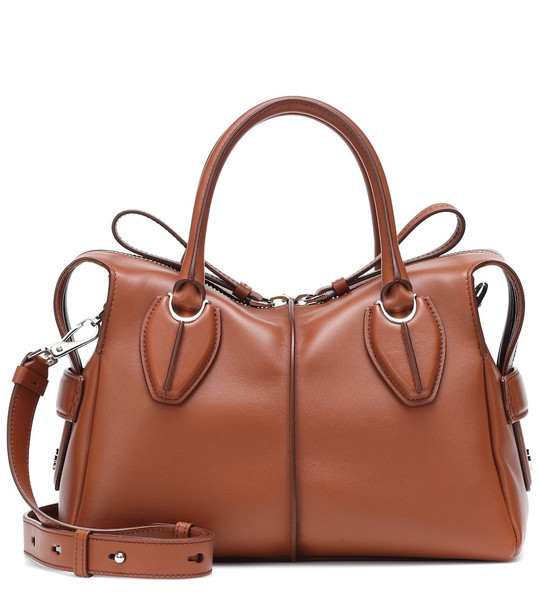 Tod's D-Styling Small leather shoulder bag in brown