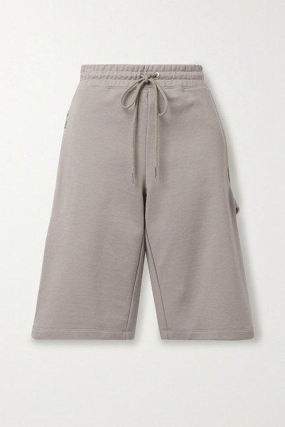 DION LEE - Utility Cotton Shorts - Gray