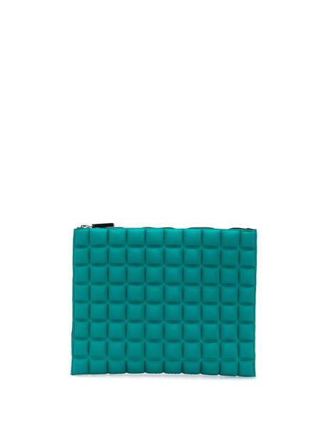 No Ka' Oi geometric pattern purse in green