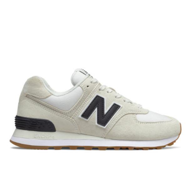 New Balance 574 Women's Shoes - Off White/White/Black (WL574REC)