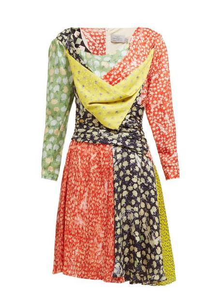 Preen By Thornton Bregazzi - Adriana Floral Print Silk Blend Mini Dress - Womens - Multi