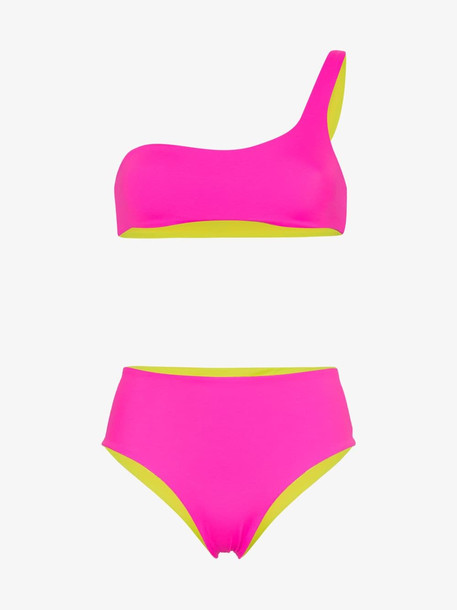 Solid & Striped Isabeli reversible bikini set in pink