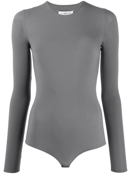 Maison Margiela long-sleeve bodysuit in grey