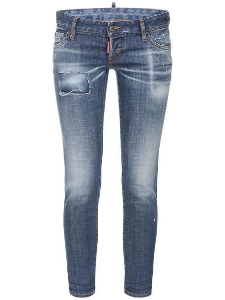 DSQUARED2 Low Waist Stretch Denim Skinny Jeans