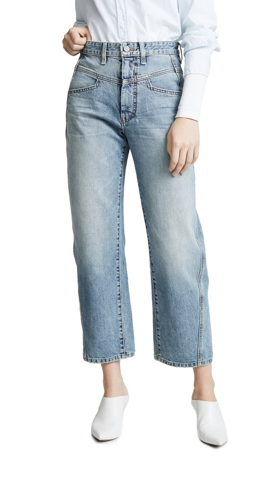 Colovos Vintage Front Yoke Jeans in blue