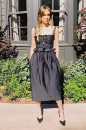 dress,midi dress,jessica alba,black dress