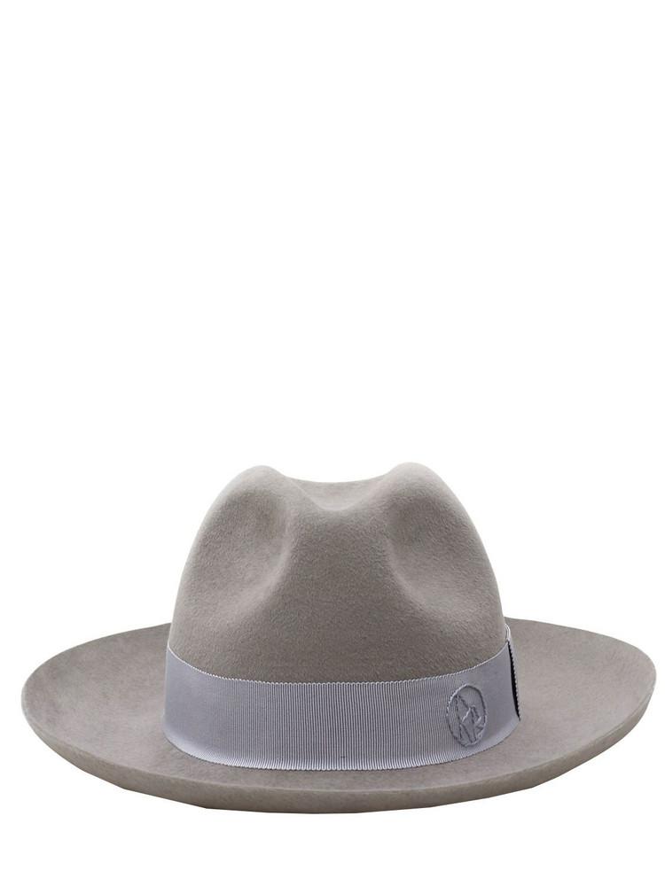 RUSLAN BAGINSKIY Felt Fedora Hat in grey