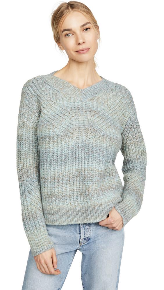 Club Monaco Watercolor Yarn Sweater in blue