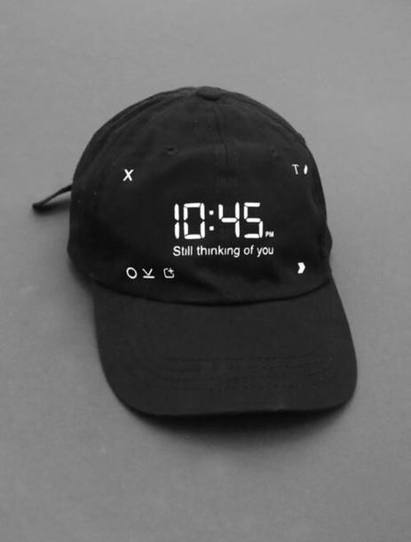 hat snapchat black