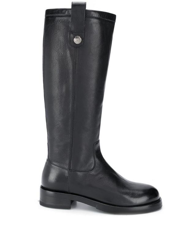 Alberto Fasciani leather riding boots in black