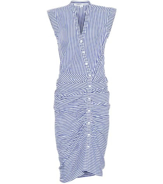 Veronica Beard Celeste striped cotton dress in blue