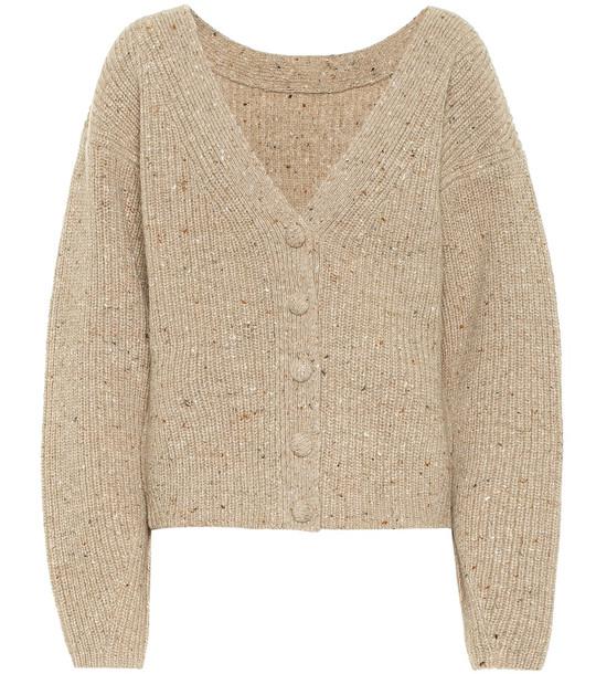 Altuzarra Wool and cashmere cardigan in beige