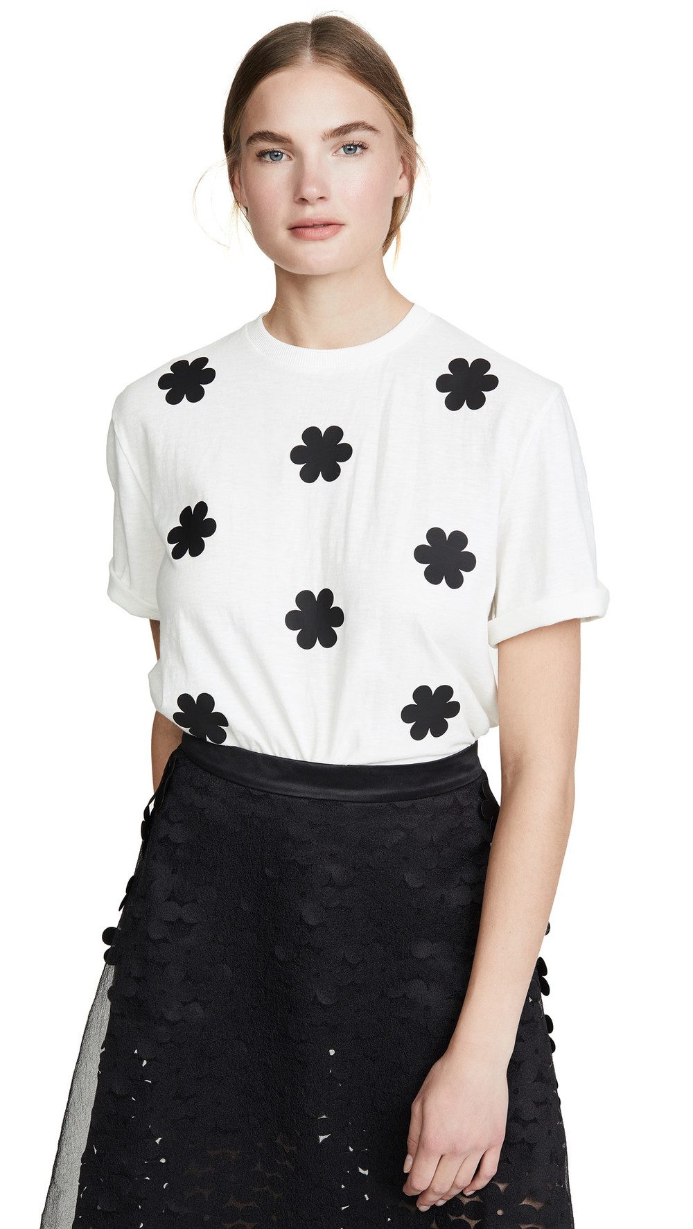 Paskal Floral T-shirt in black / white