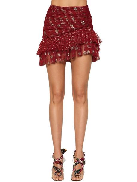 RAISA & VANESSA Ruffled Glitter Polka Dots Skirt