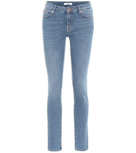 7 For All Mankind Pyper mid-rise skinny jeans in blue
