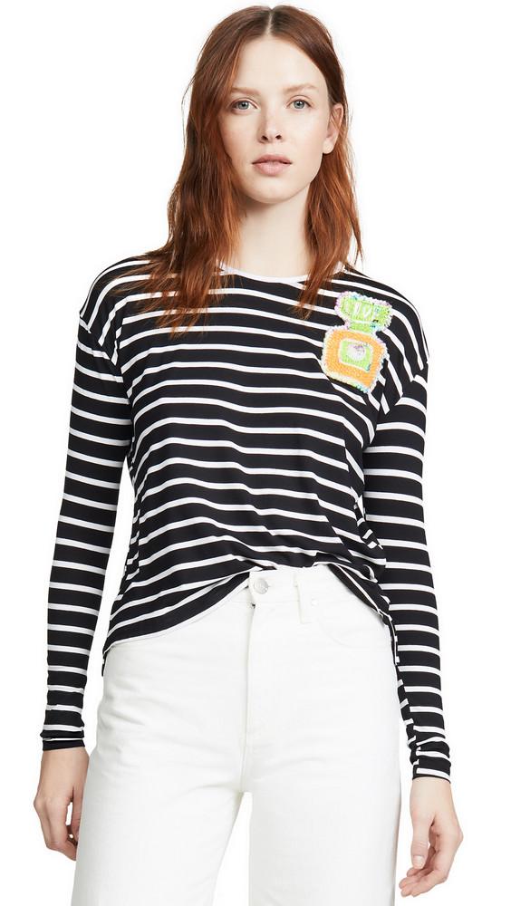 Michaela Buerger Striped Perfume Tee in navy / white